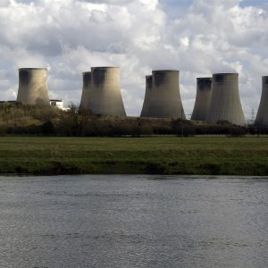 Ratcliffe Power Station next to the river trent in Nottinghamshire